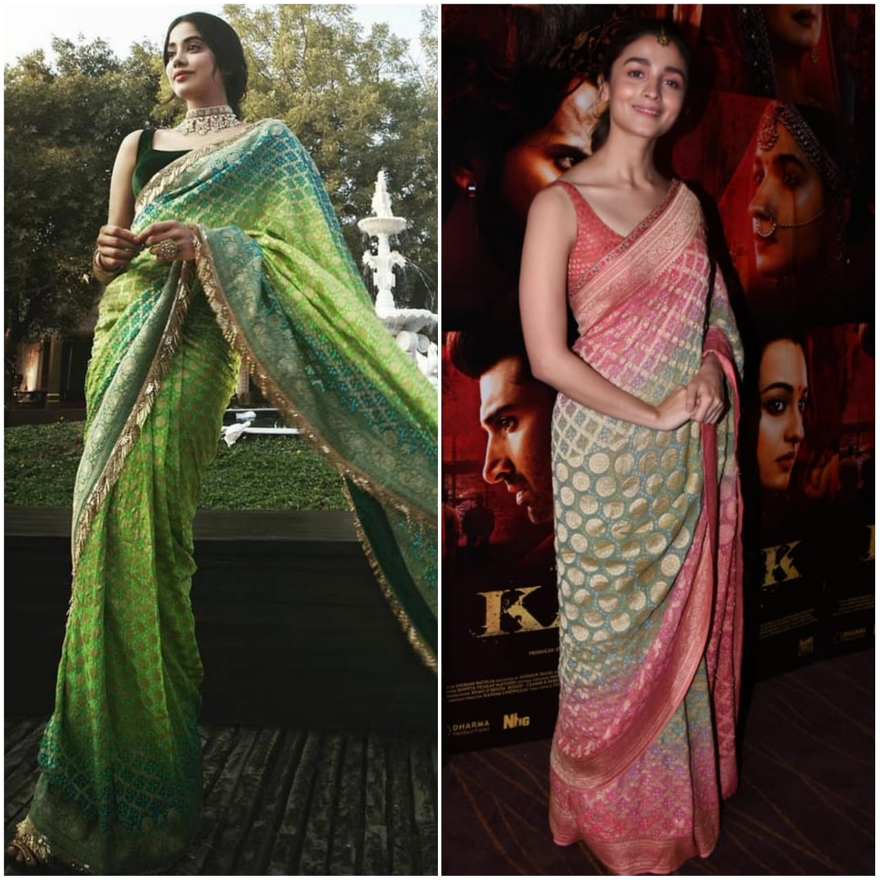 Be a Trendsetter like Alia Bhatt and Janhvi Kapoor to rock the six yards this Summer