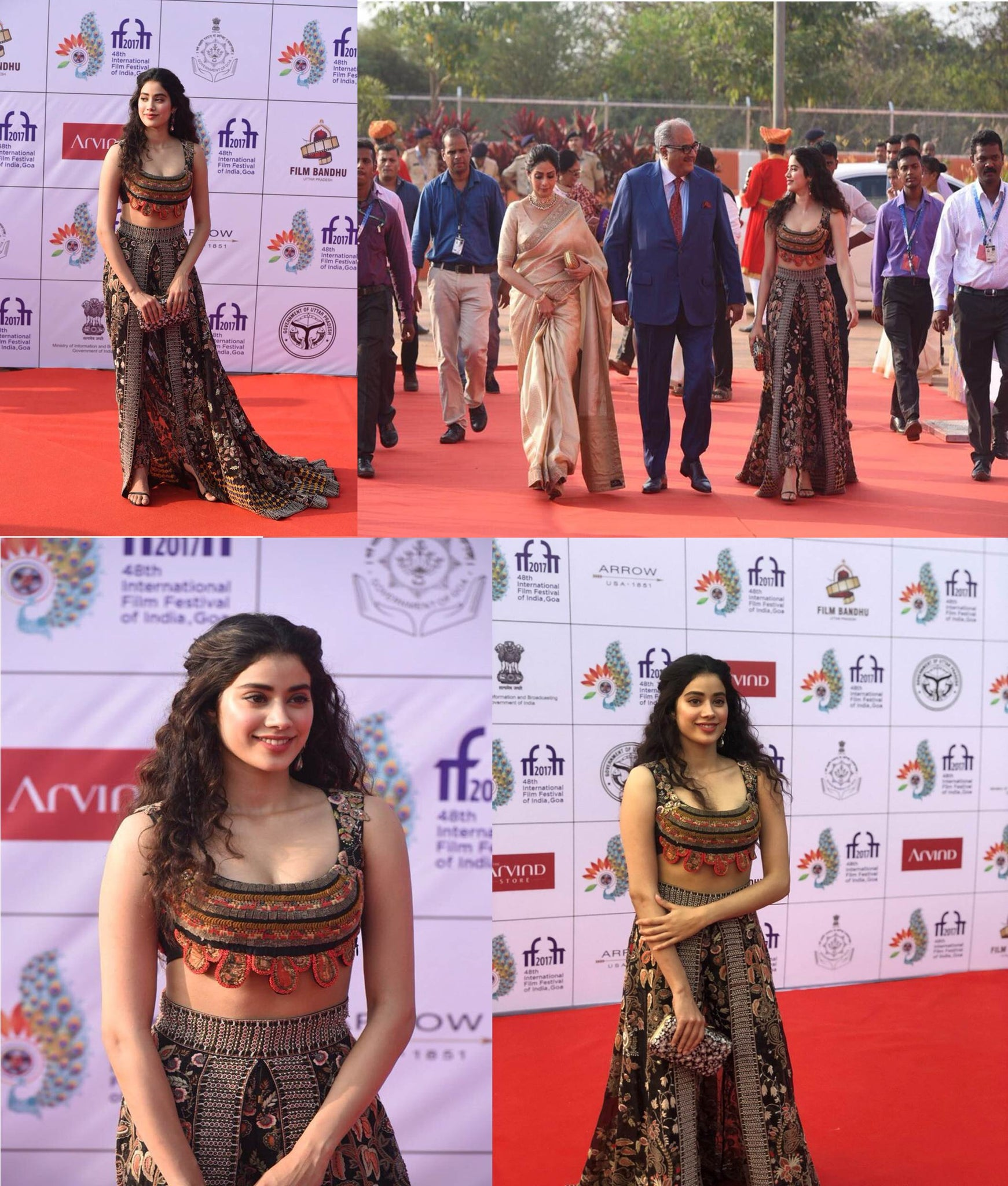 Jahnvi Kapoor in Beautiful Anamika Khanna's Dress