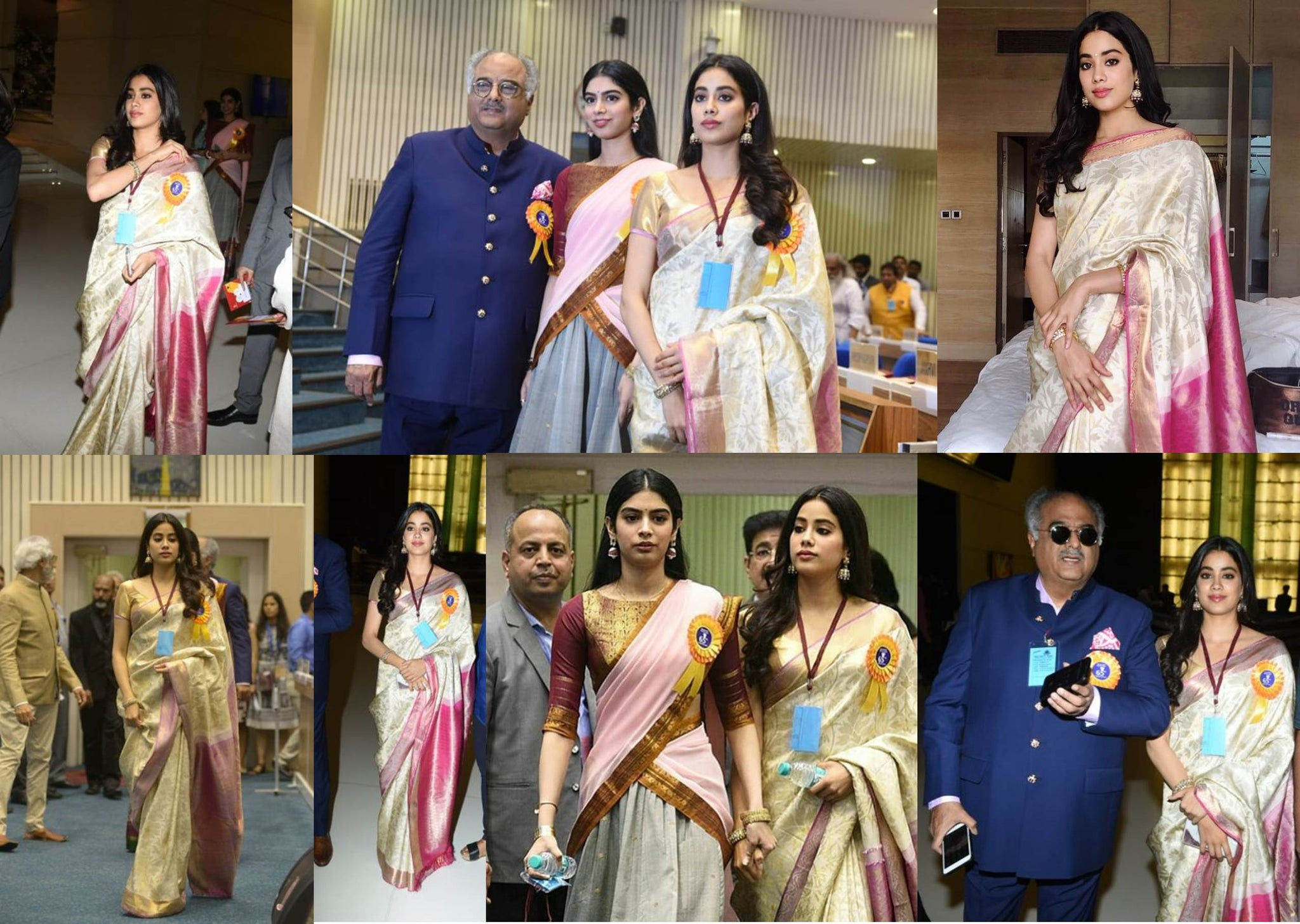 Janhvi Kapoor Wore Her Mommy Sridevi's Sari to Receive The Indian National Award