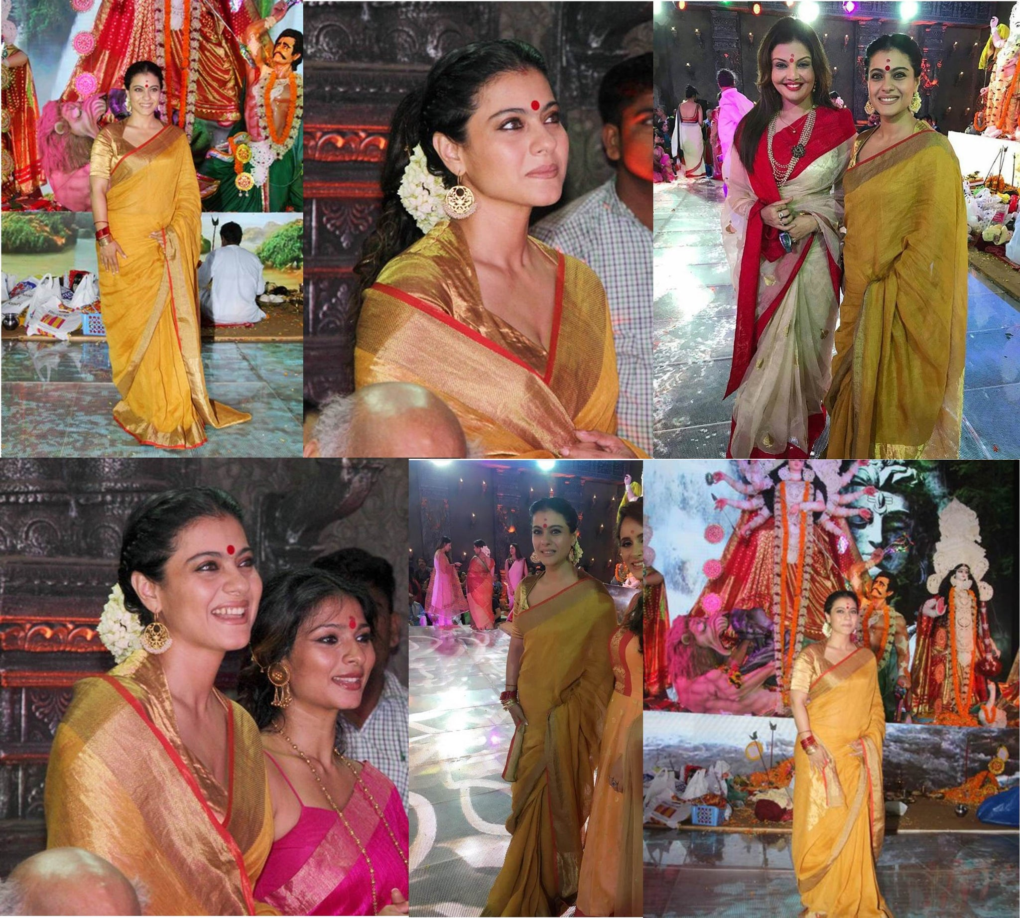 Kajol picked a sandalwood colors Anavila sari