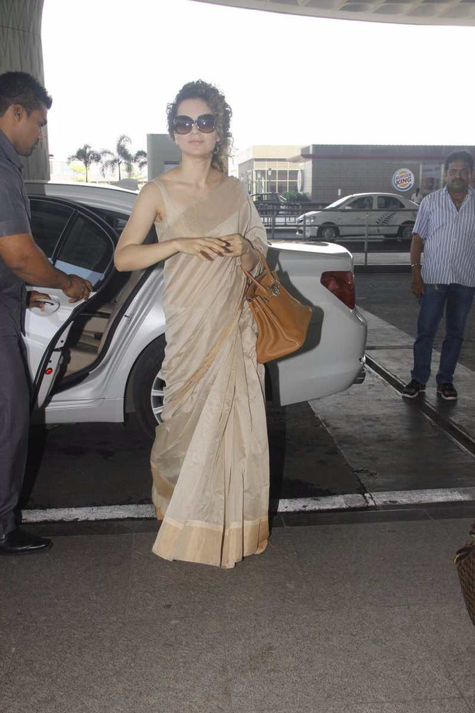 Kangana Ranaut Looked Deshi In Fab India Saree