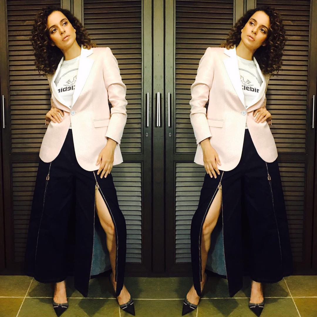 Kangana Ranaut makes a bold statement in this designer Osman Resort 2018 Dress