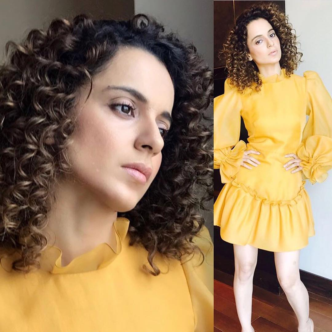 Kangana Ranaut looked like a sunshine in Yellow Dress