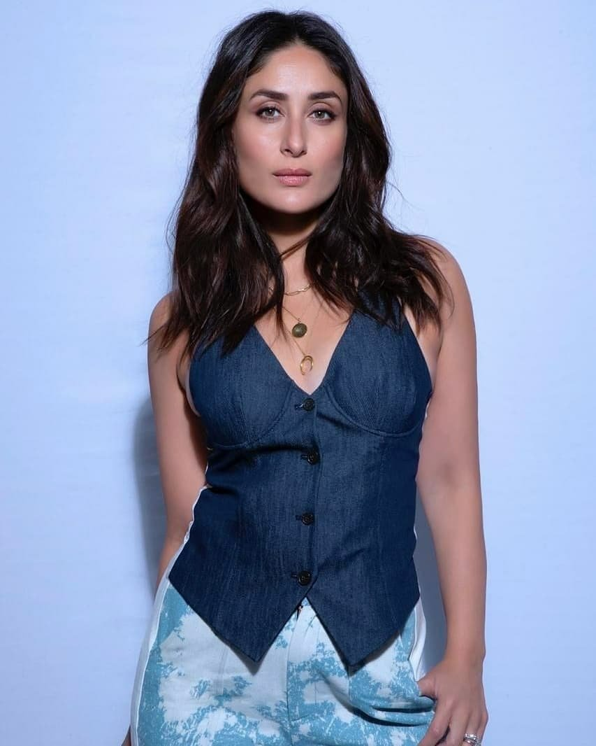 kareena kapoor khan in denim jacket with denim bottom