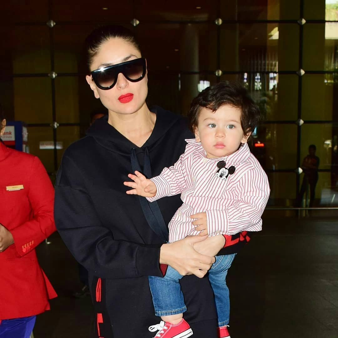 Bold Lip And A Oversized Sweatshirt! Kareena Kapoor's Winning Fashion Mantra