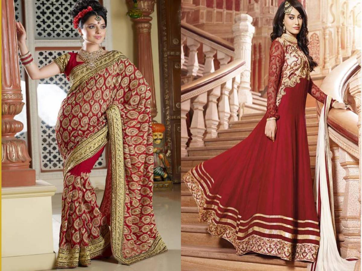 Bridal Embroidered Saree/ Anarkali Suit