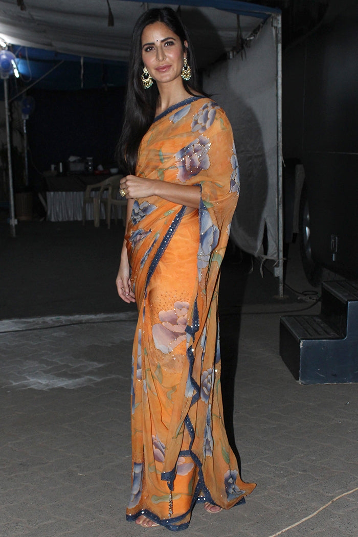 Katrina Kaif in Floral Printed Saree