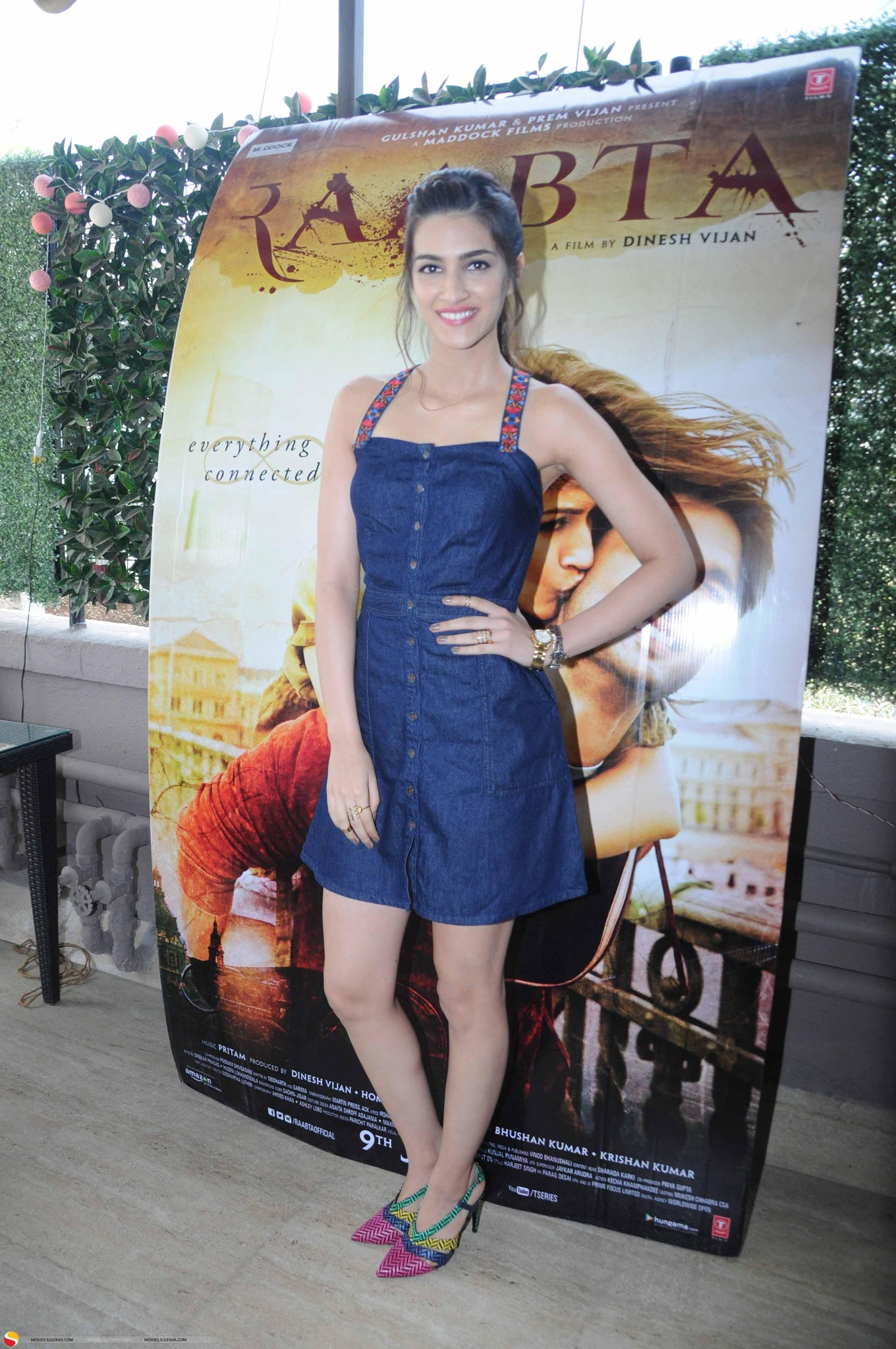 Kriti Sanon In Global Desi's Denim Dress For Promotion Of Raabta Movie