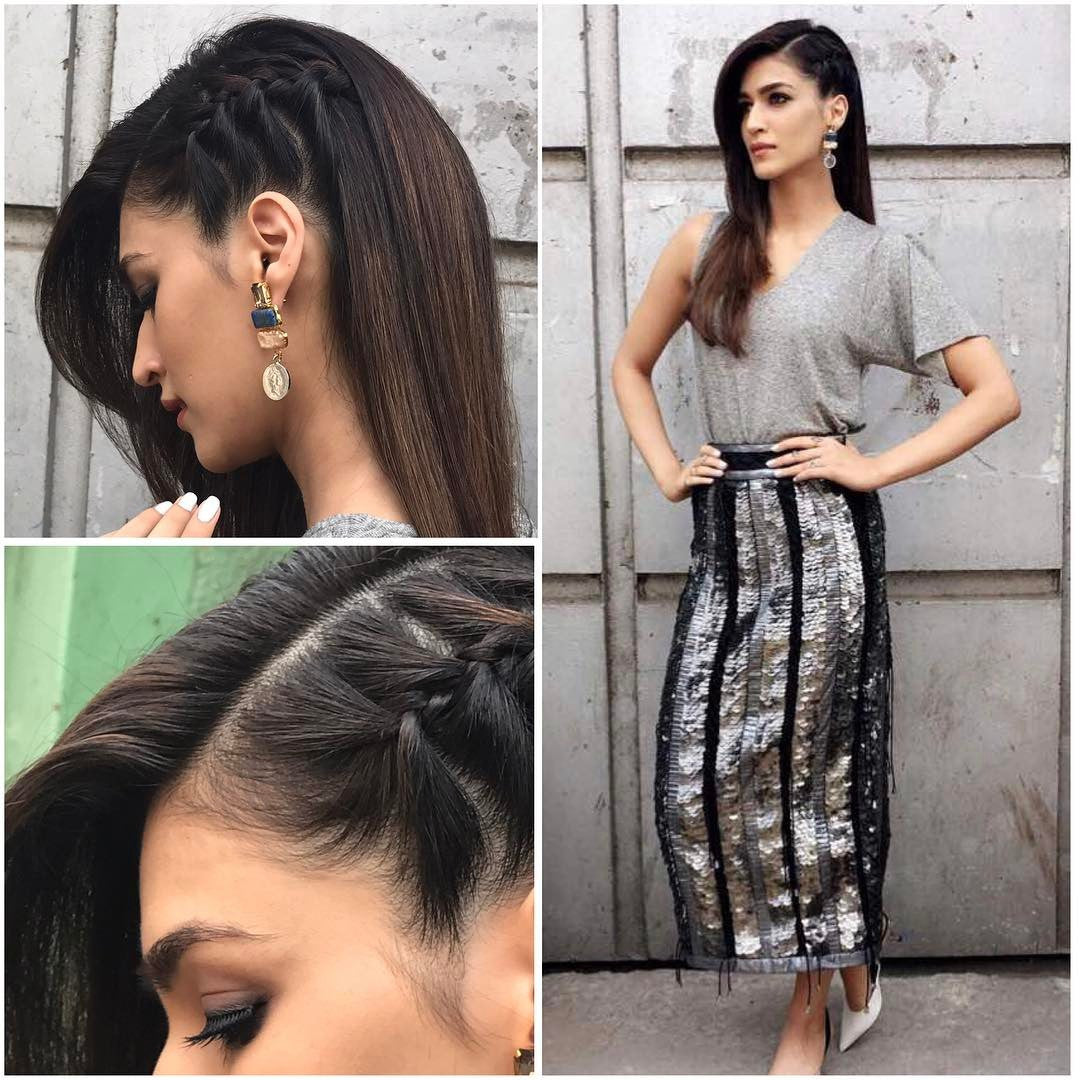 Kriti Sanon doing glam right for Raabta Promotion in 431_88 Panelled Skirt & shoes from zara1