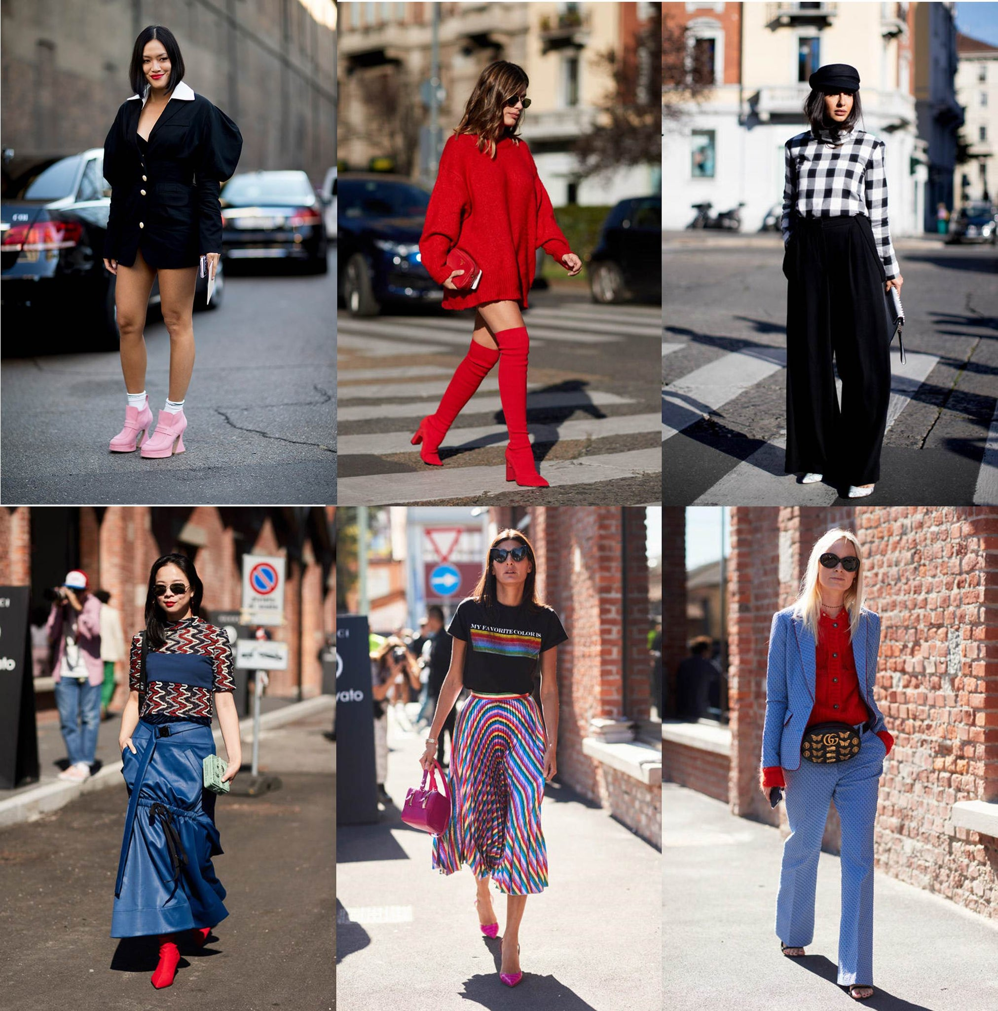 Milan Fashion Week Spring 2018 New Street Styles