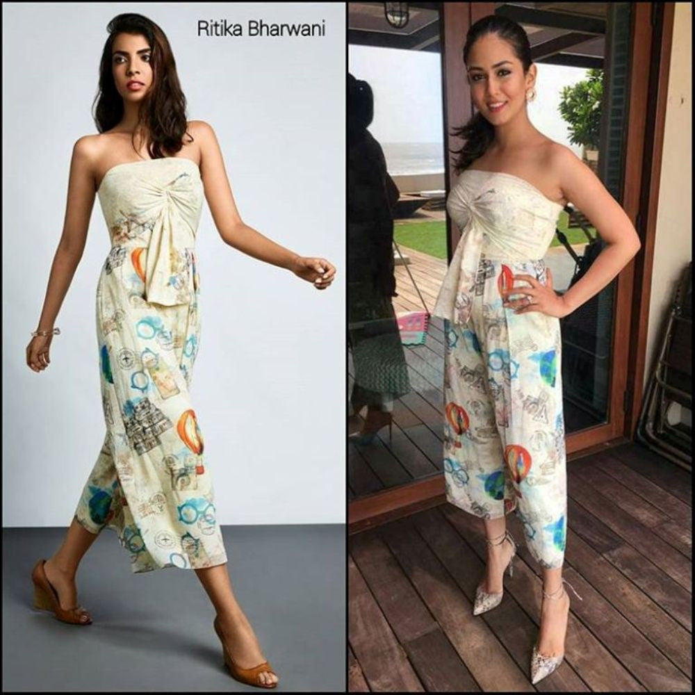 Mira Kapoor Looked Pretty In Ritika Bharwani's Strapless Jumpsuit