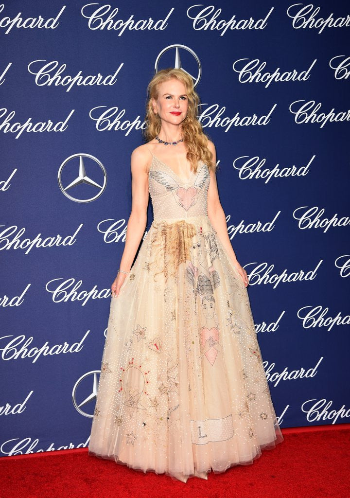 Nicole Kidman also just kicked off award season in the same designer Dior 2017 Line gowns in January.