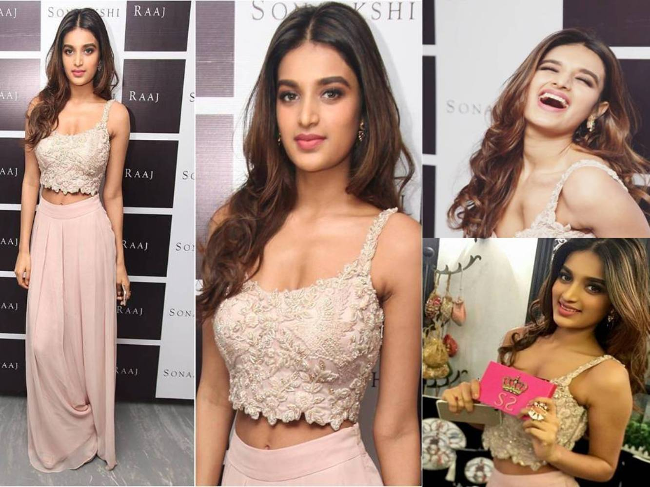 Nidhhi Agerwal's Ditches Her Monotone Style At A Store Launch Event
