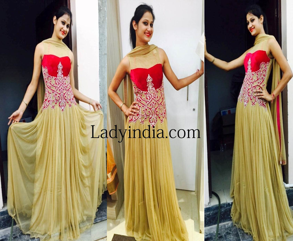 designer-red-&-golden-gown