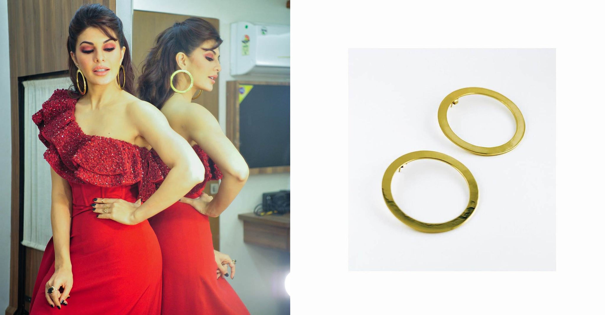Sonakshi Raaj's ONE SHOULDER Red Gown