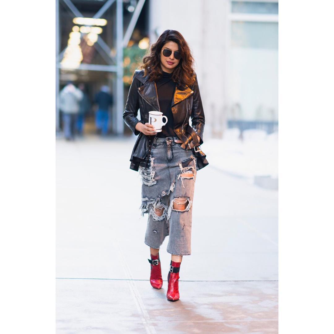 Priyanka Chopra's Cool And Chic Winter Street Style