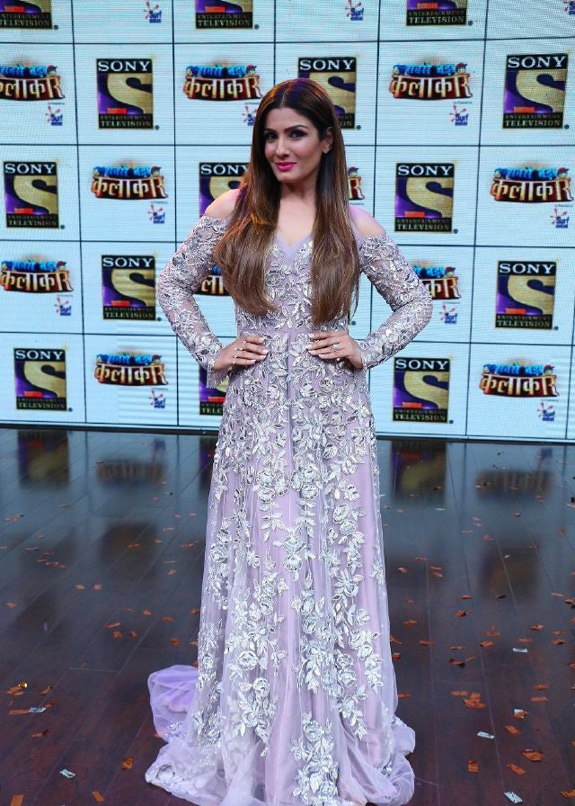 "Raveena Tandon  Looked Hot In This Designer Dress At The Launch Of New Reality Show ""Sabse Bada Kalakar"""