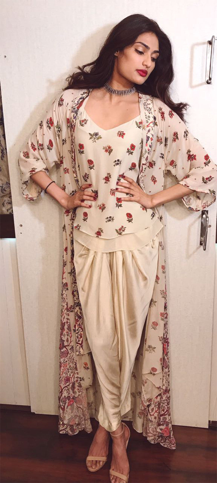 Athiya Shetty looked stylish in Floral outfit From Nikasha