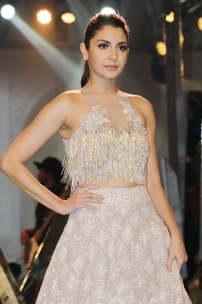 Anushka  Sharma Walked The Ramp For Manish Malhotra At The Mijwan Summer 2017 Fashion Show