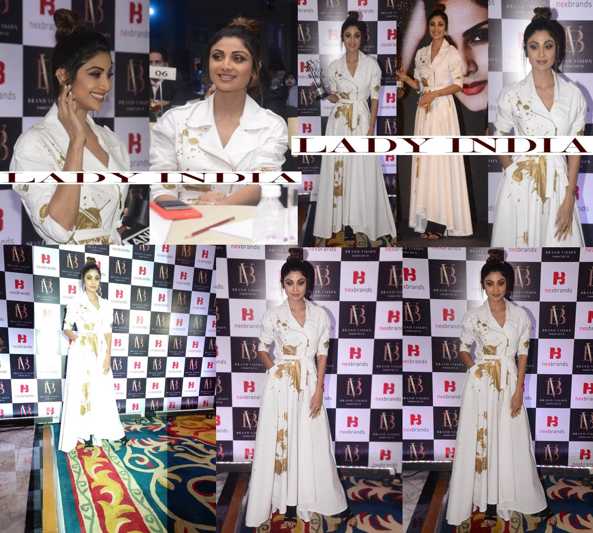 Shilpa Shetty Looked Graceful in Rajesh Pratap Singh's Designer Dress