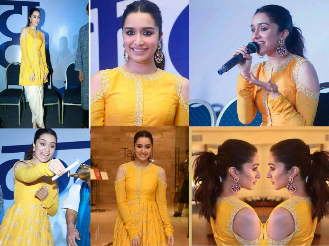 Shraddha Kapoor Looked Like A Sunshine in A Bright Yellow Outfits By Anoli