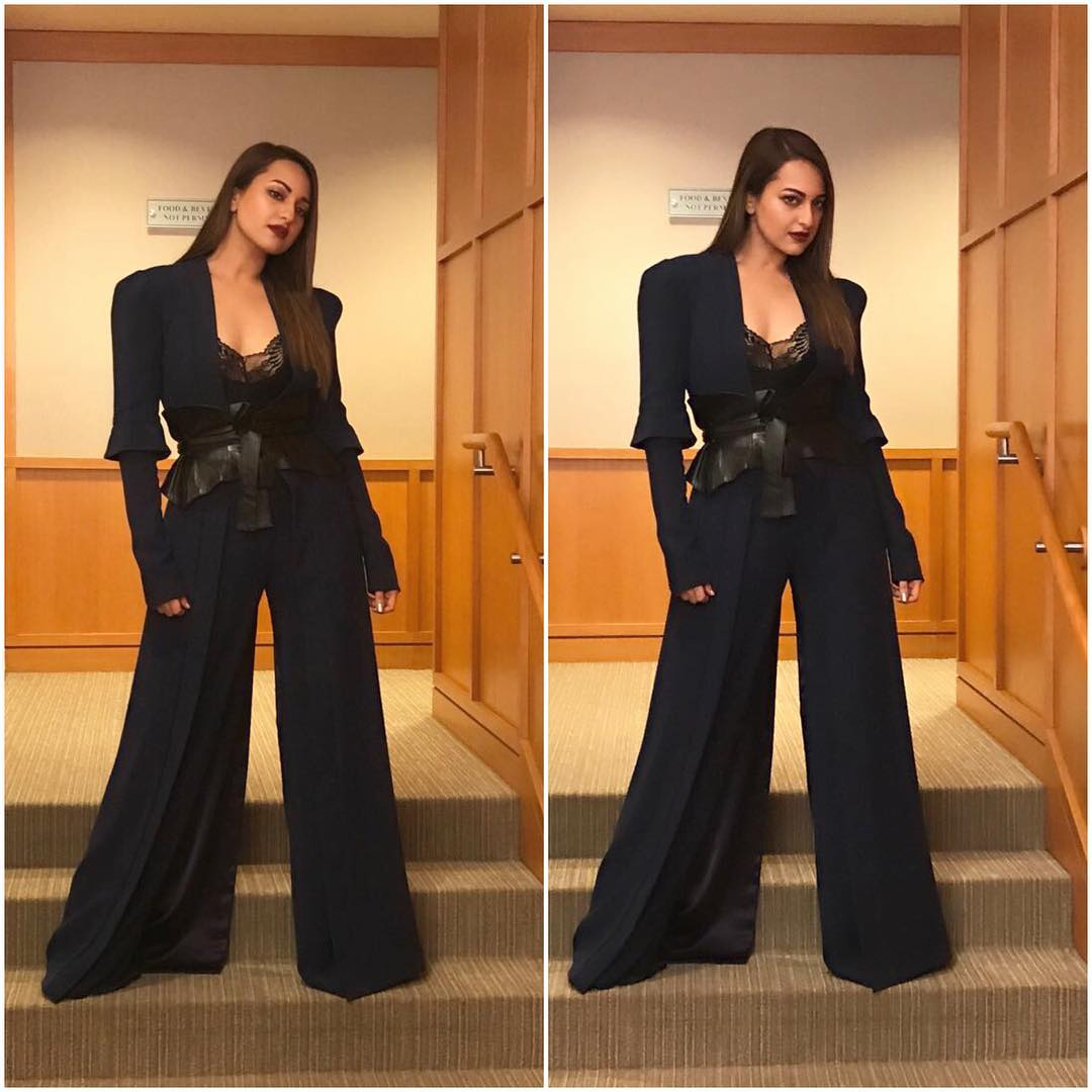 Sonakshi Sinha Looked Like A Boss in A Long Jacket Team Up With Legged Pants From SR Store