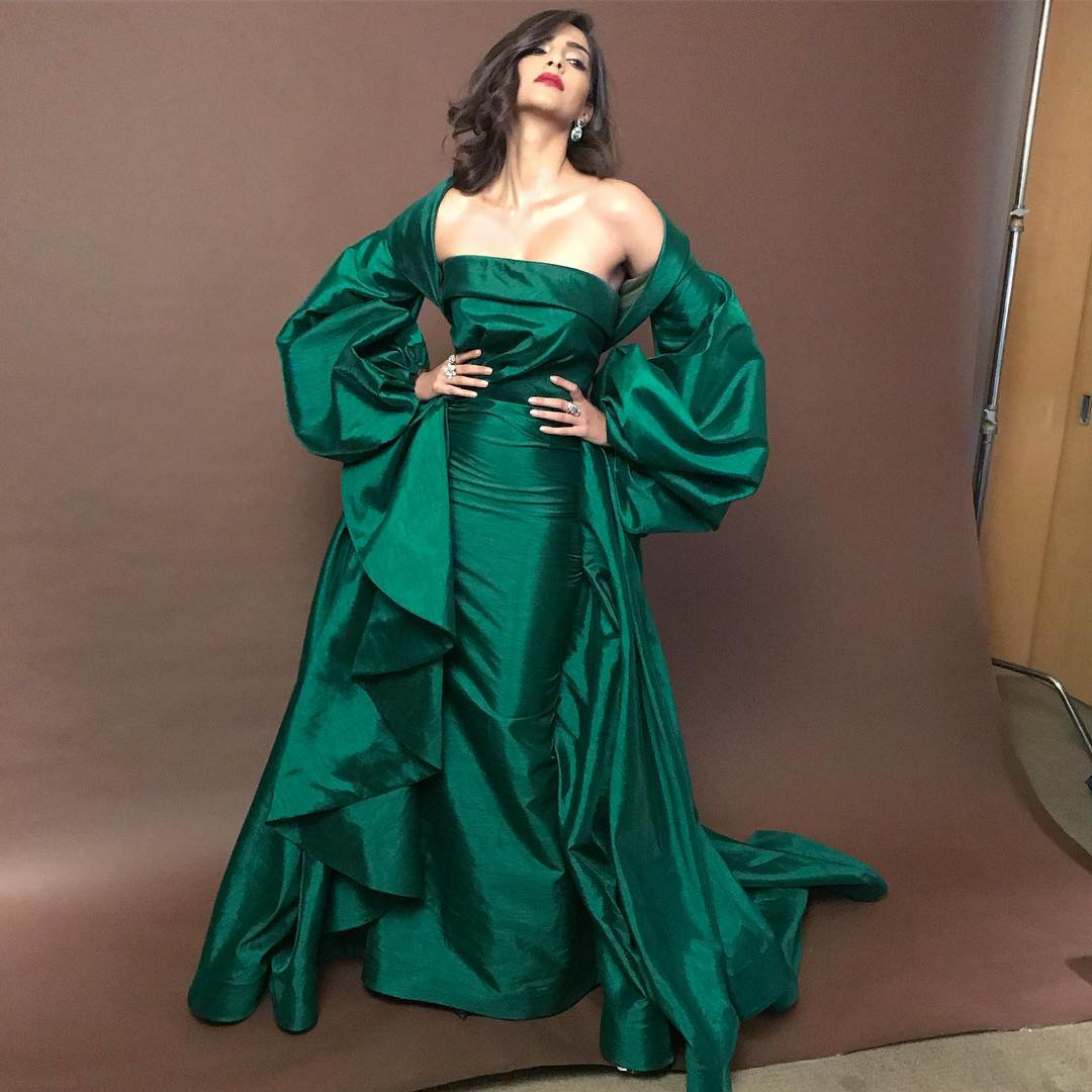 Sonam Kapoor in Green Gown