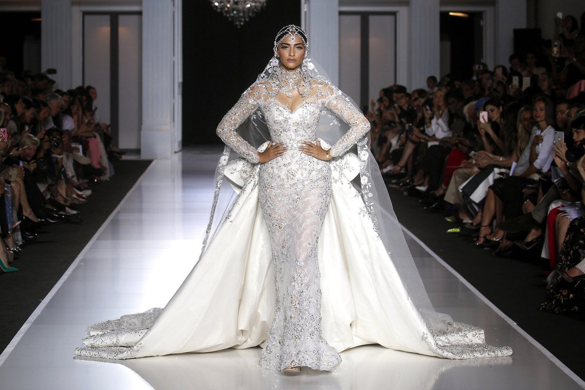 Sonam Kapoor in Ralph and Russo's designer gown at Paris Autumn Winter 2017/2018 couture show