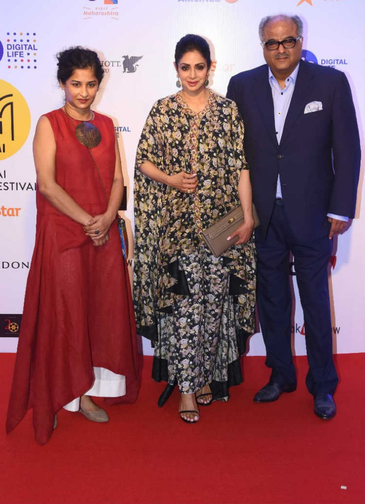 Sridevi Looked Drop-Dead Gorgeous At MAMI Mumbai Film Festival 2017