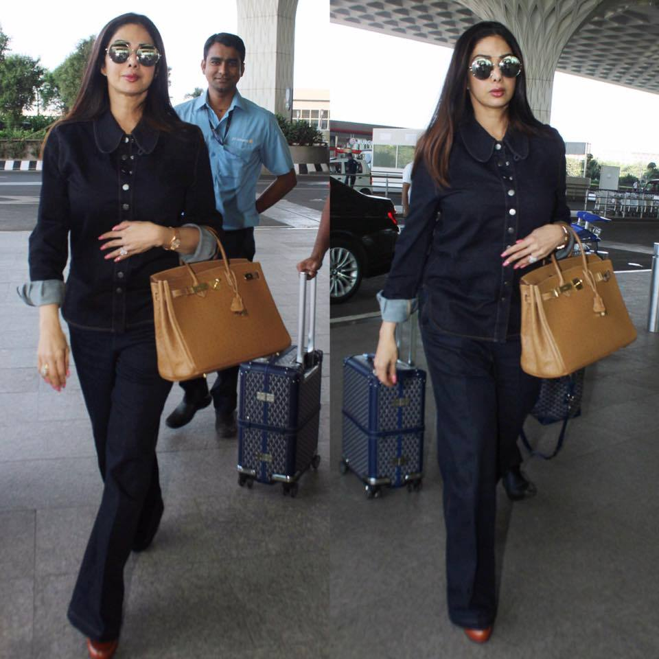 Denim-on-denim trend is easy to follow checkout sridevi kapoor's airport look