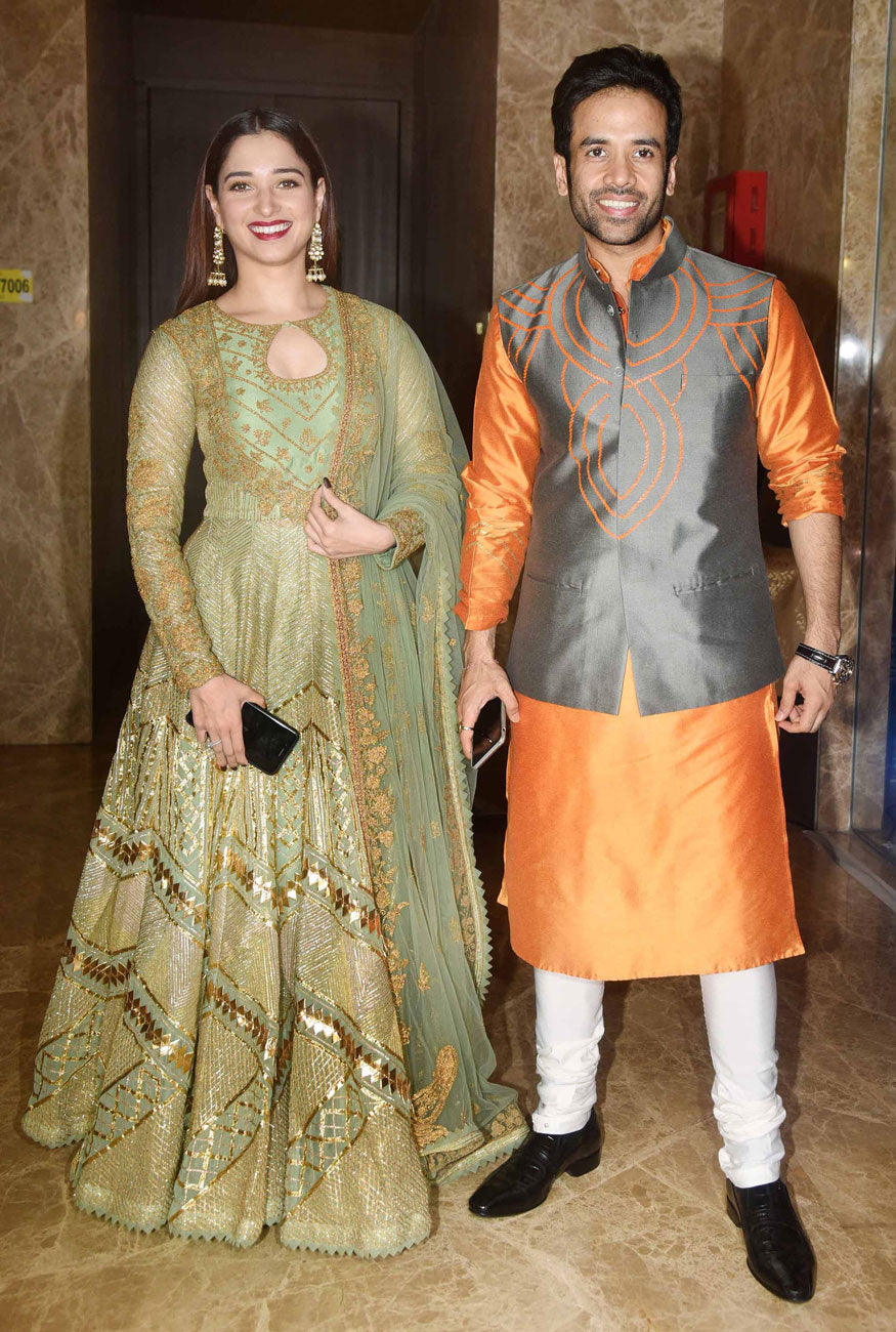 Tamannaah Looked Vivacious in Her Designer Anarkali Suit By Rimple & Harpreet Narula