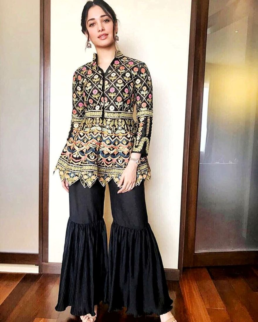 Tamannaah Bhatia Wears The Peplum Jacket In The Classiest Way
