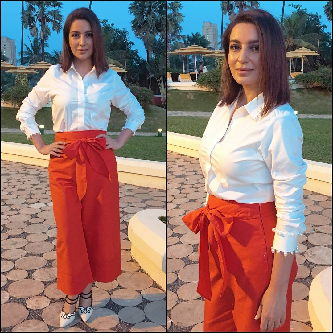 Tisca Chopra in This Red & White Ensemble Looks Too Awesome To Look Away
