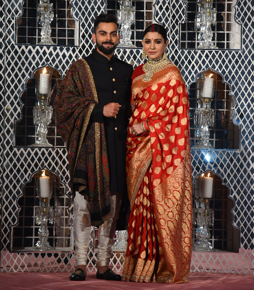 Virat Kohli And Anushka Sharma's Traditional Look in Sabyasachi Ensembles