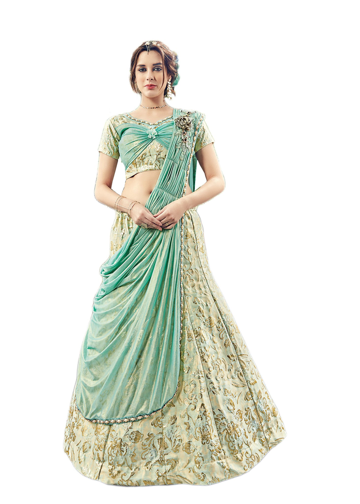Western Lehenga Choli With Butterfly Style