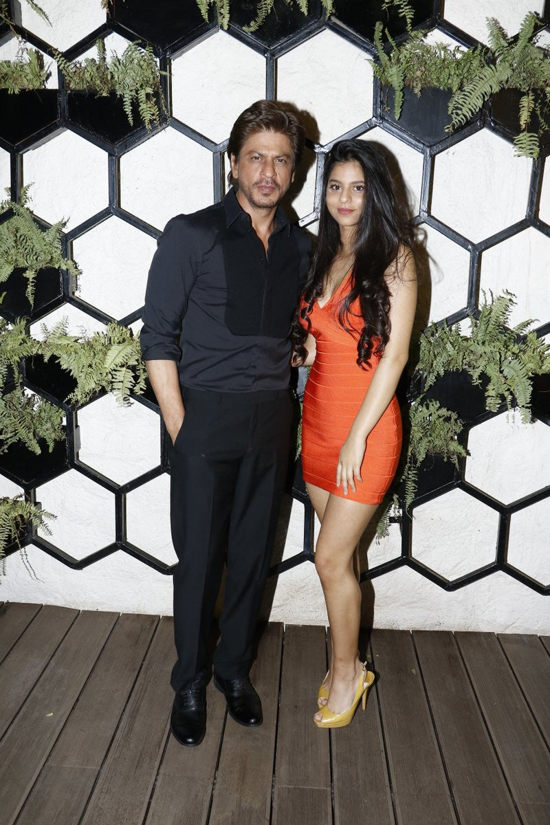 Suhana Khan Stuns In Tangerine Bandage Dress From Hervé Léger