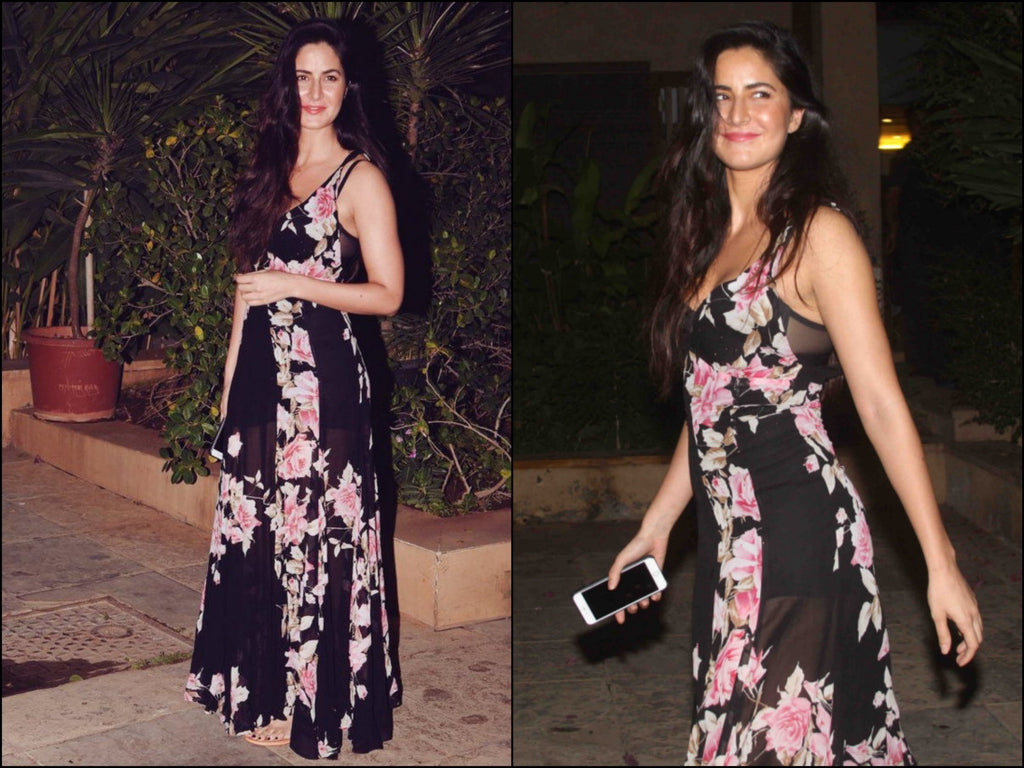 Katrina Kaif stuns in a floral printed maxi dress at Shahid Kapoor's birthday bash!
