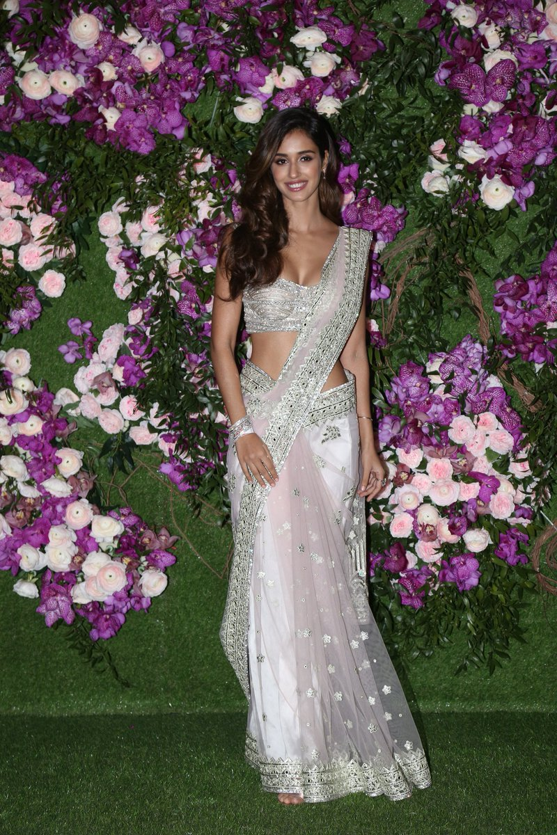 Disha Patani in Baby Pink Net Saree – Lady India