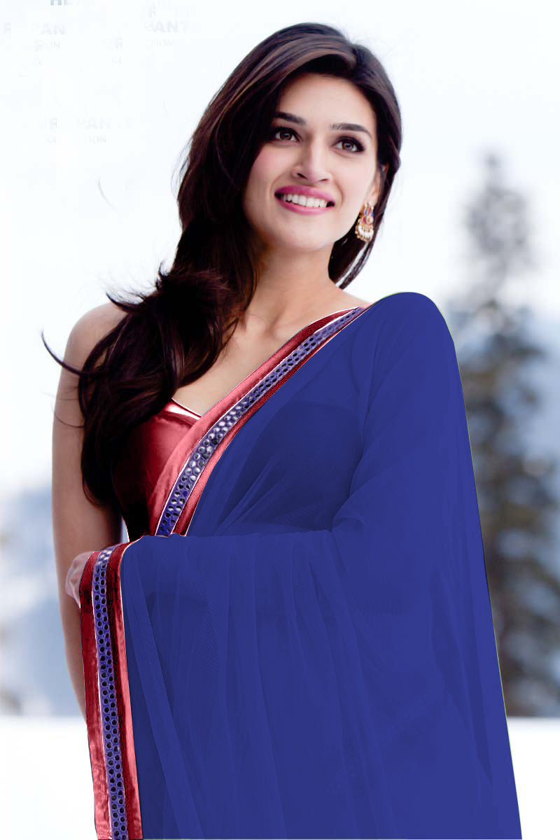 kriti-sanon-in-rabba-song-in-blue-saree