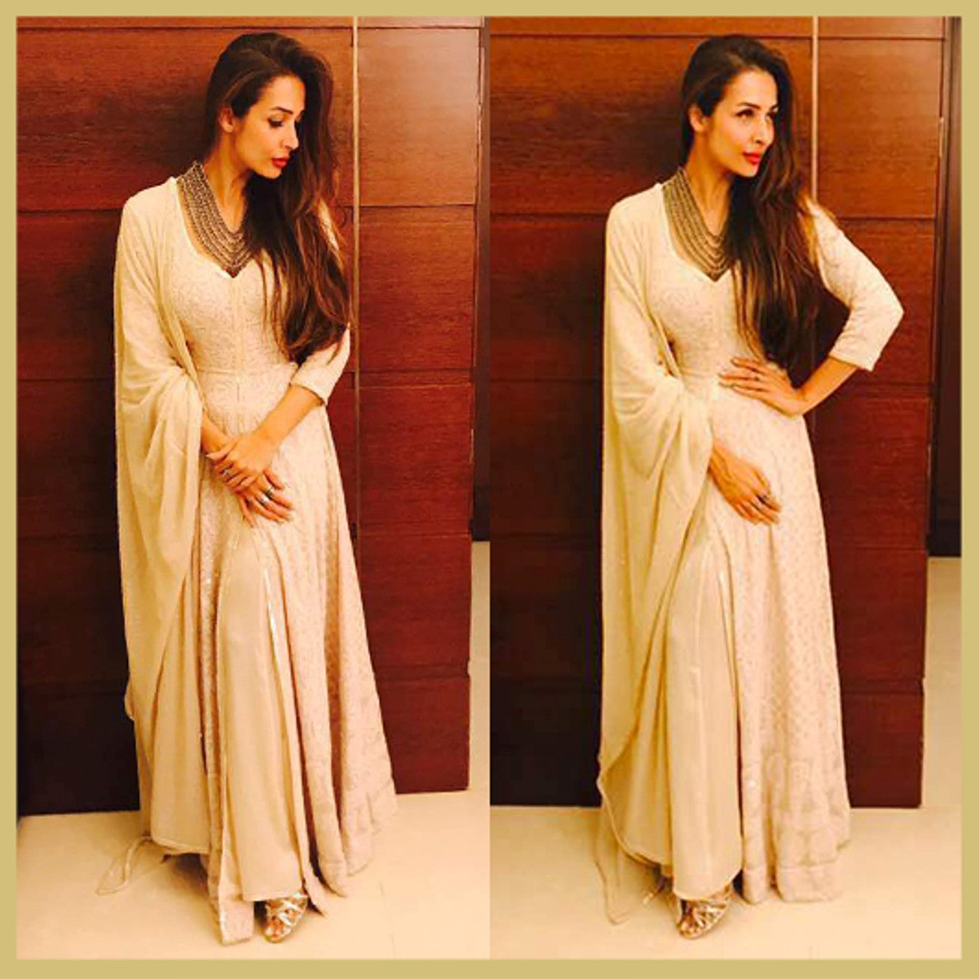 Malaika Arora Looked Dazzling In Anjul Bhandari's Embroidered Salwar Suits