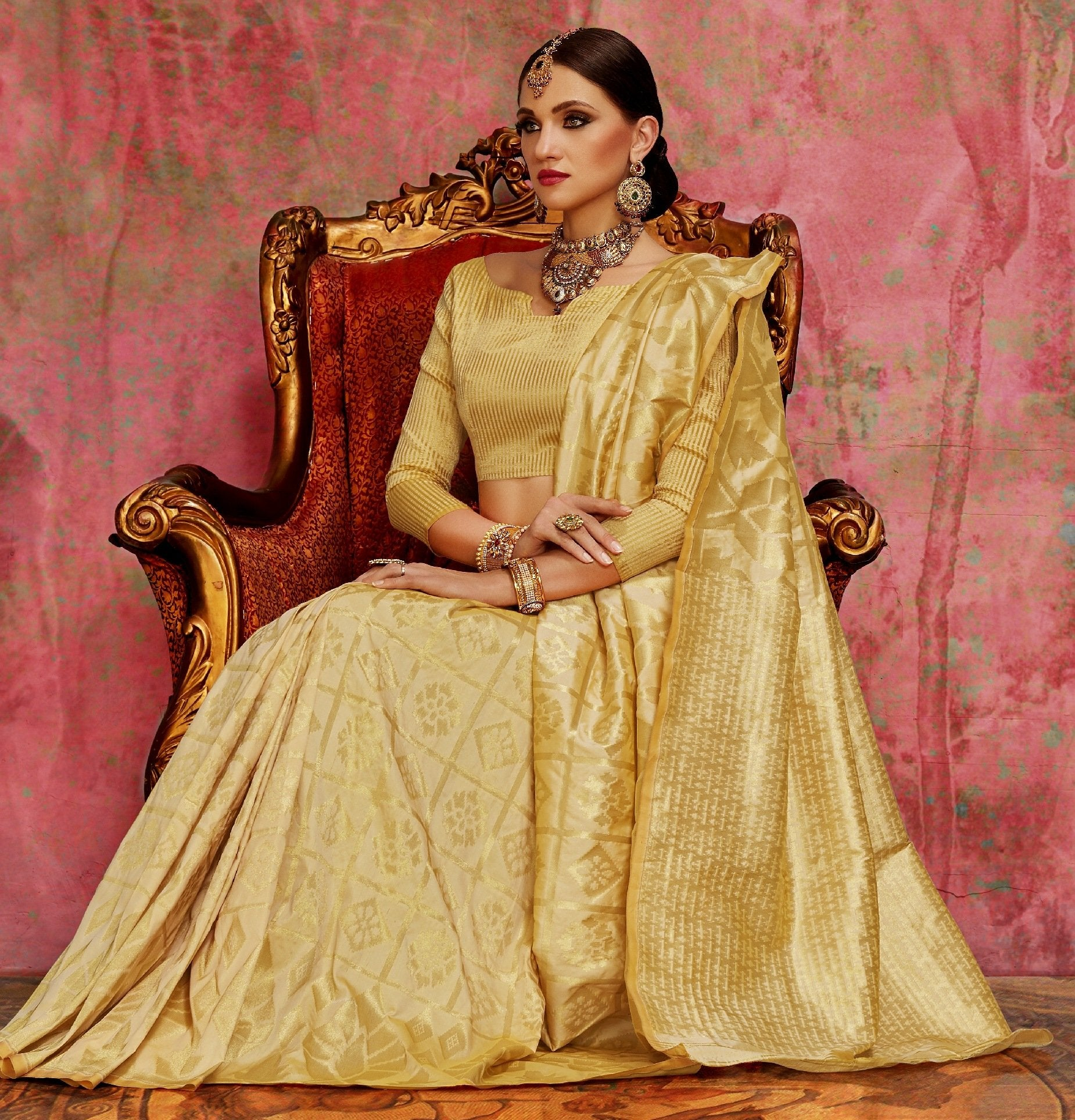 gold-colour-silk-saree-online