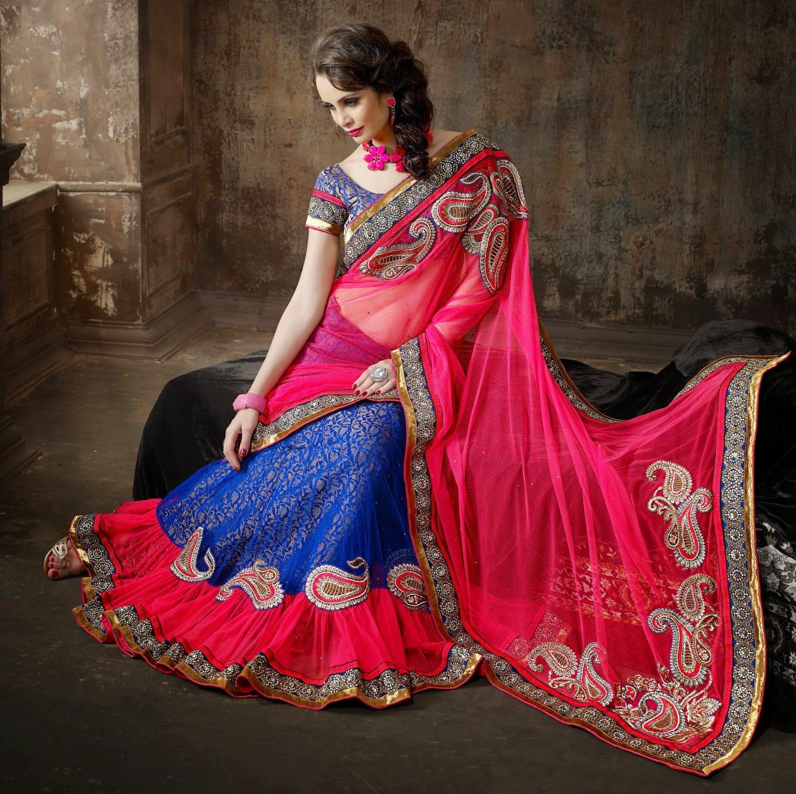 half-saree-designs-for-teenagers
