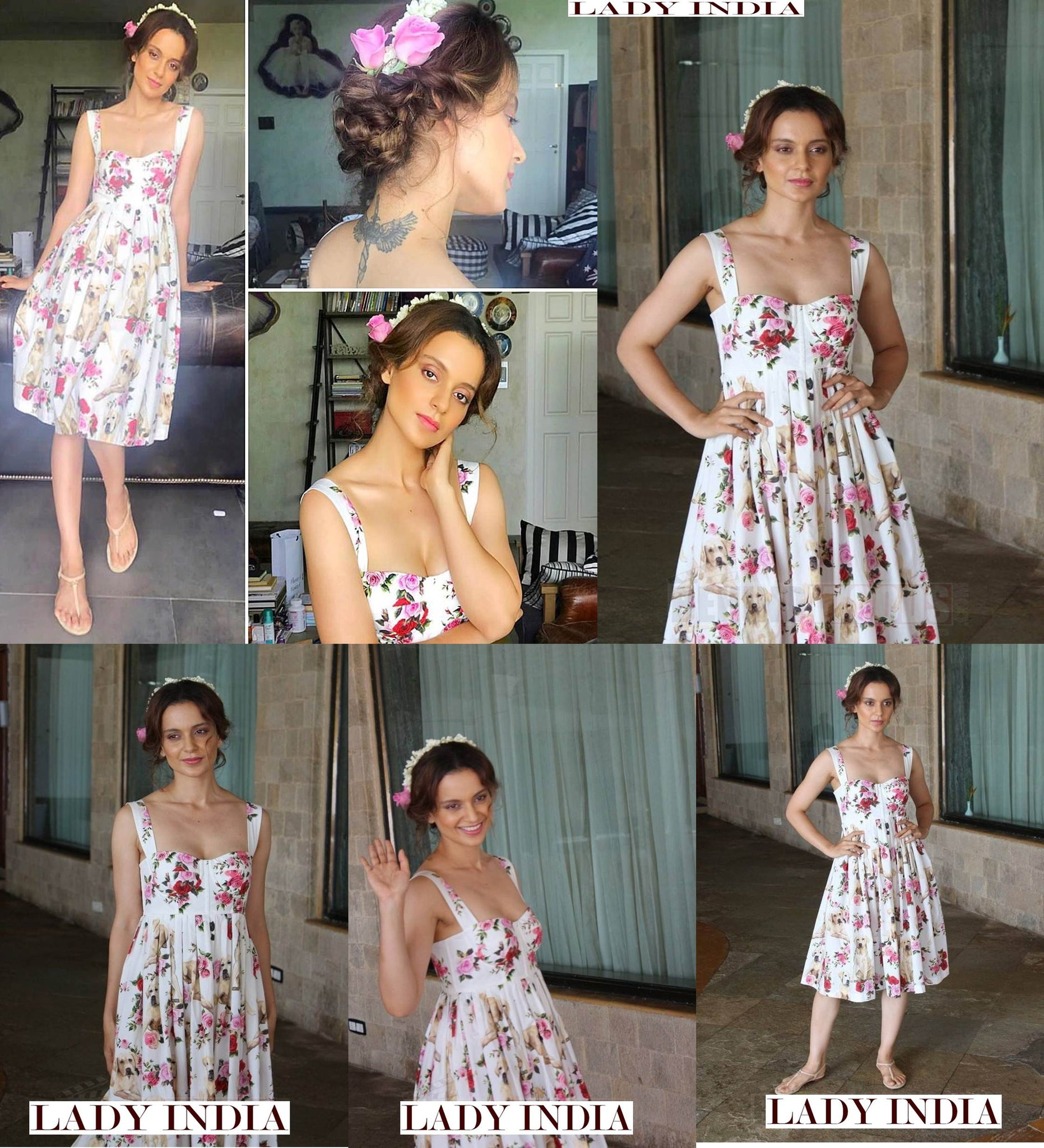 Kangana Ranaut makes a bold statement in this spicy, colour-blocked ensemble