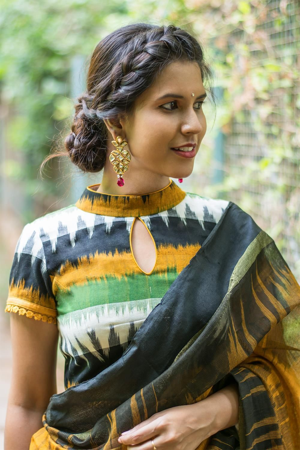 high-neck-saree-blouse