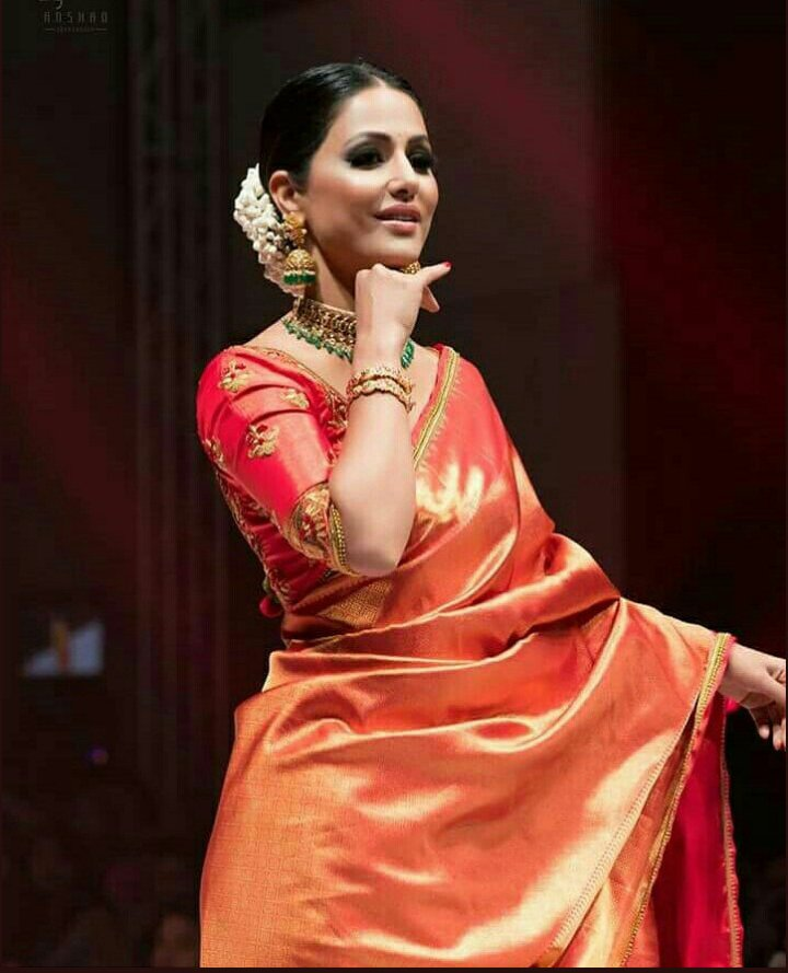 Hina Khan in Silk Saree