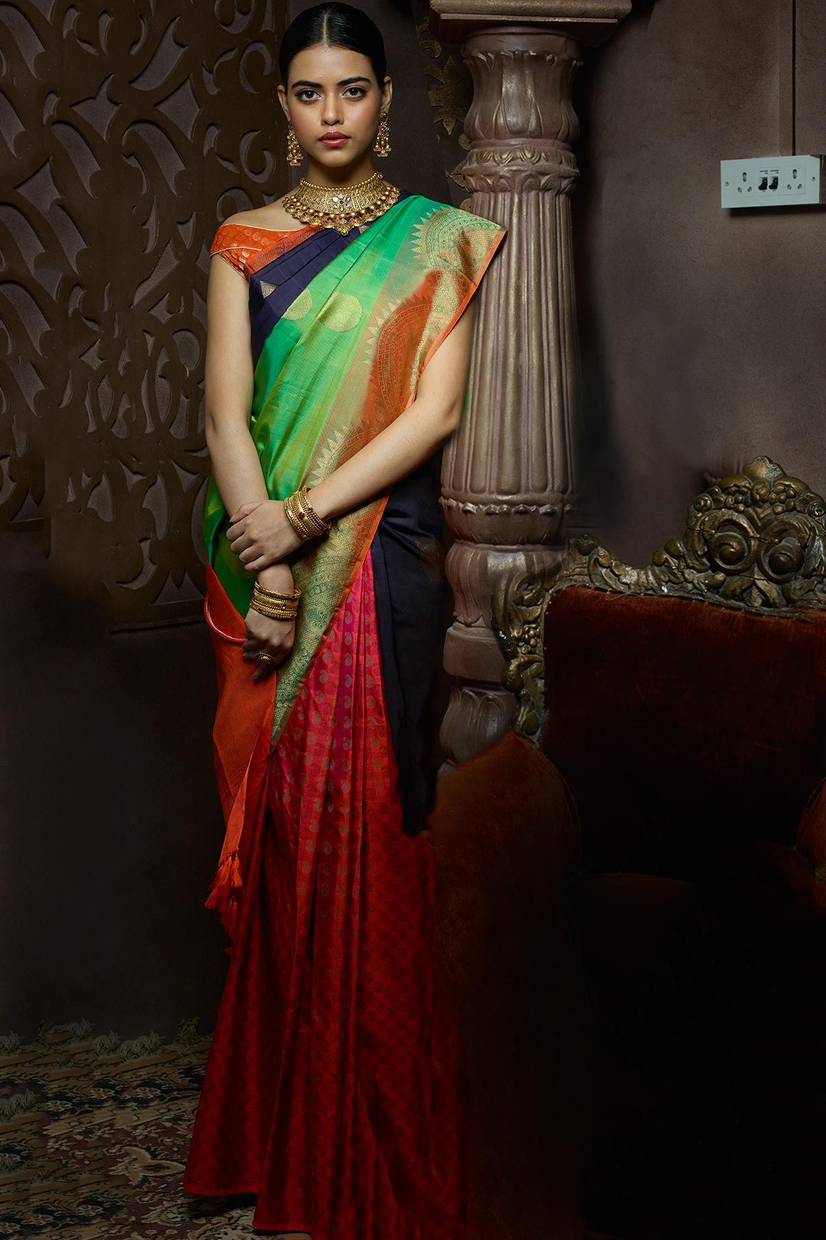 how-to-wear-a-half-saree