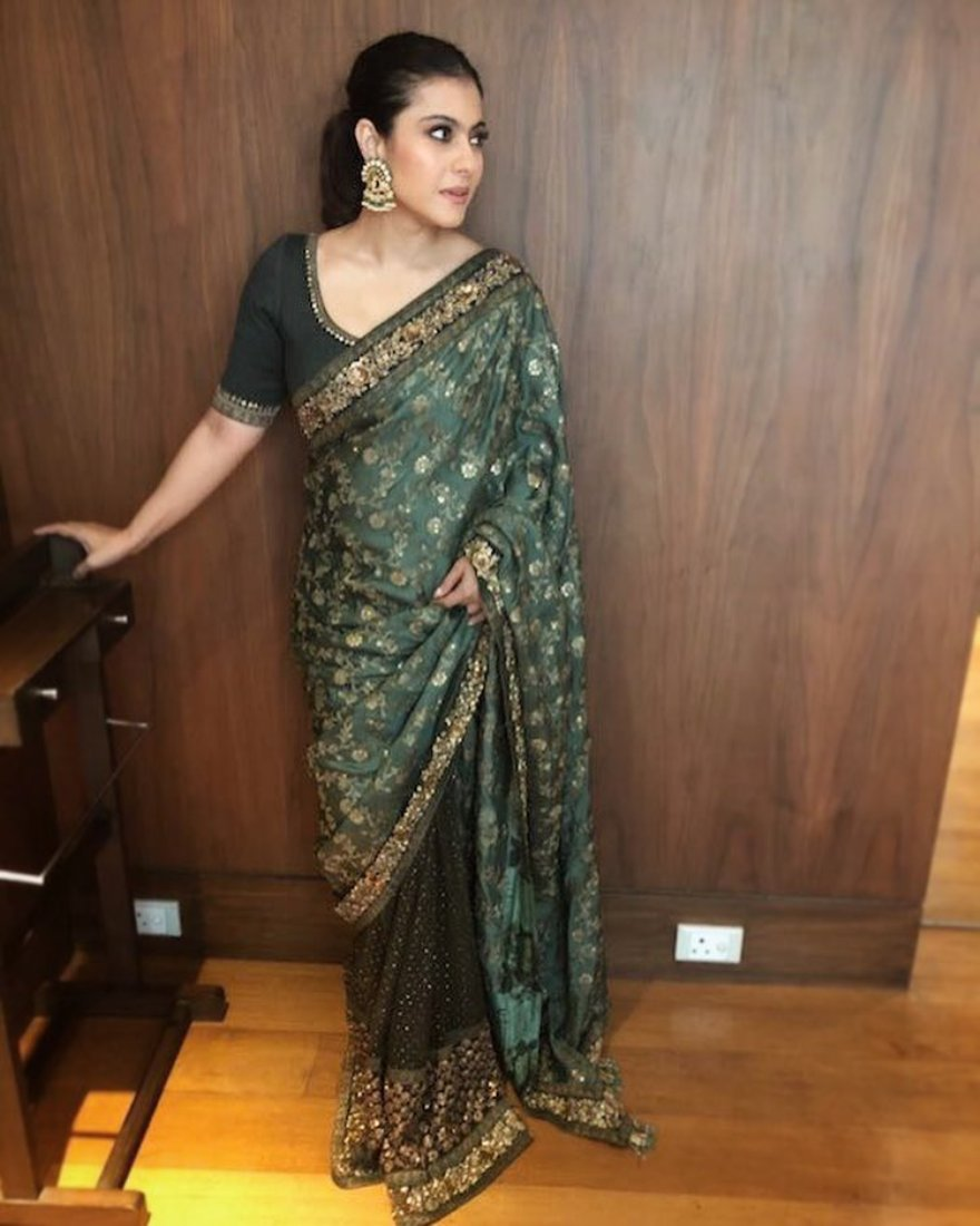 Kajol Looked Elegant In Designer Sarees By Sabyasachi