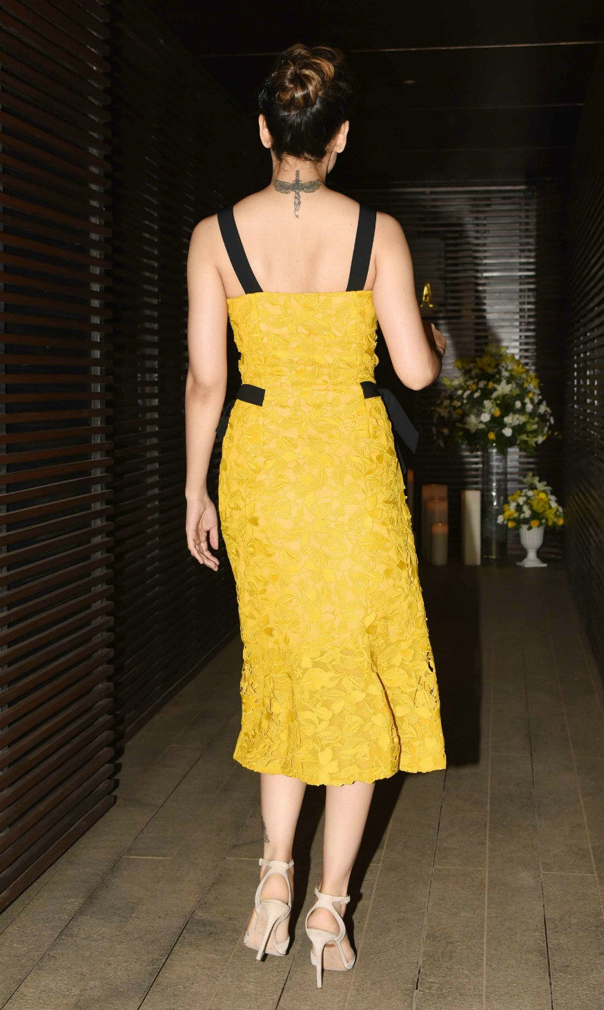 Kangana Ranaut In Sachin & Babi's Yellow Lace Dress