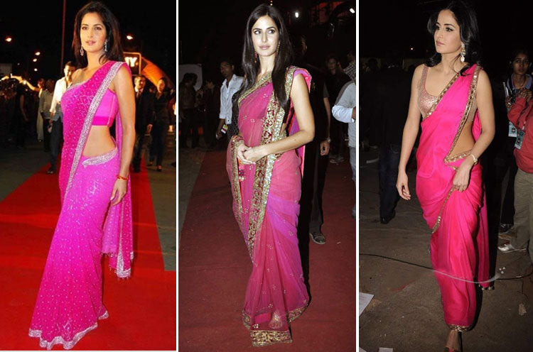katrina-kaif-in-hot-pink-saree