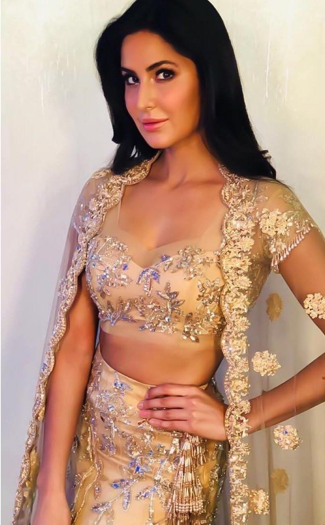 Katrina Kaif Ups Her Ethnic Style Game With This Designer Lehenga Choli